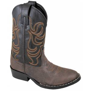 Smoky Mountain Youth Monterey Western Boots - Brown/Black