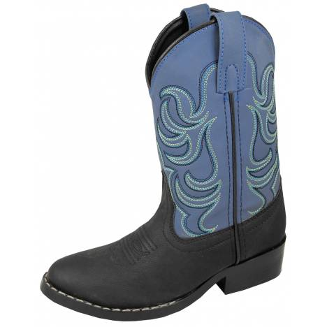 Smoky Mountain Childs Monterey Western Boots - Black/Blue