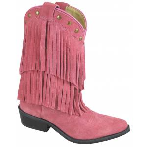 Smoky Mountain Youth Wisteria Double Fringe Leather Boots