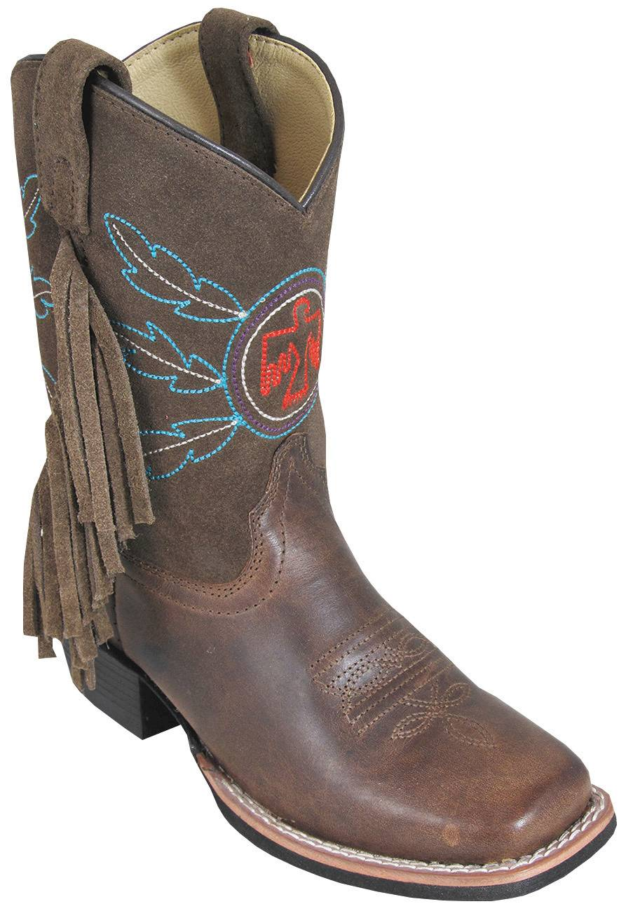 Smoky Mountain Childs Thunderbird Suede Fringe Boot