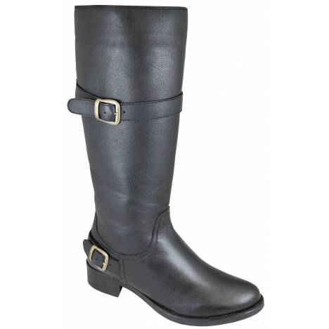 Smoky Mountain Womens Donna Leather Tall Boot - Black