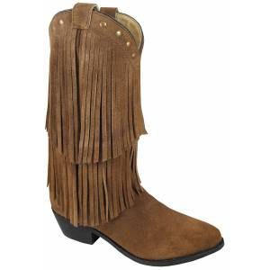 Smoky Mountain Ladies Wisteria Double Fringe Leather Boots