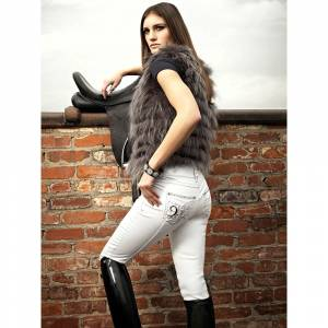 2KGrey Pas Op! Full Seat Riding Breeches