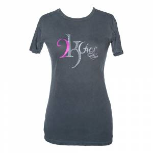 2kGrey Ladies Grey Logo Tee Shirt