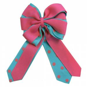 Ellies Pink and Light Blue Bow