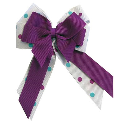 Ellies Purple and White Bow