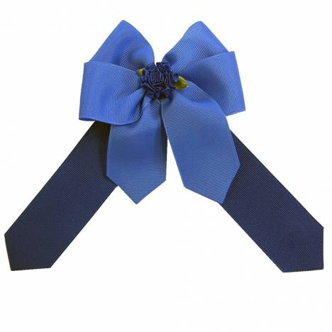 Ellies Royal Blue and Navy Bow