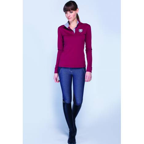 Asmar Convertible Long Sleeve Polo - Ladies