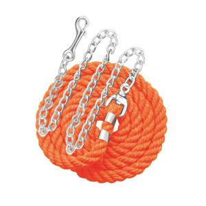 Perri's Solid Cotton Lead with Chain - 1/2