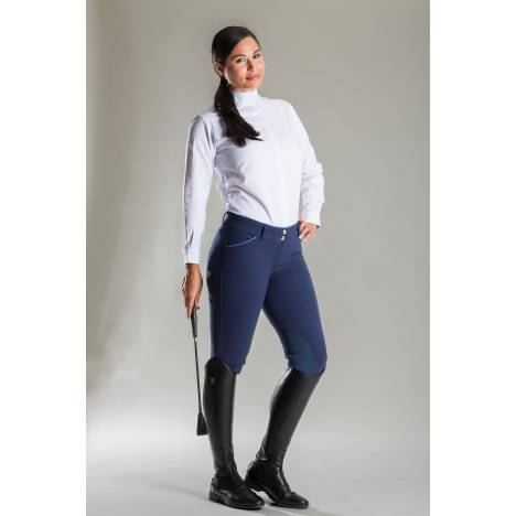 Devon Aire Signature Woven Knee Patch Show Breech-Ladies