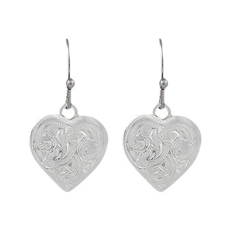 Montana Silversmiths Classic Montana Heart Swinging Earrings