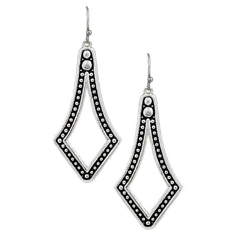 Montana Silversmiths Elongated Square Teardrop Earrings