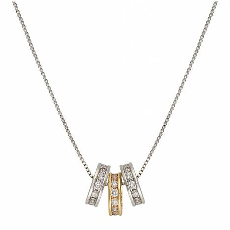 Montana Silversmiths Two-Tone Triple Shine Necklace