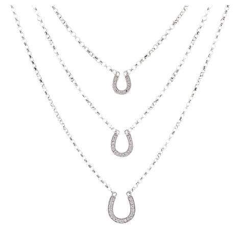 Montana Silversmiths Three Tiered Horseshoe Necklace