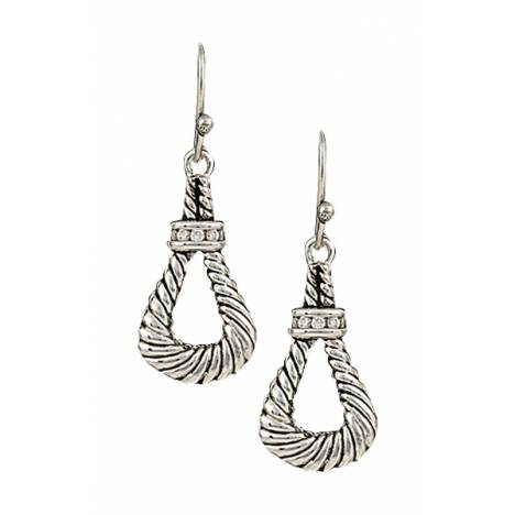Montana Silversmiths Twisted Rope Loop Earrings