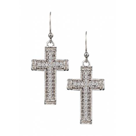 Montana Silversmiths Sparkling Faith Cross Earrings