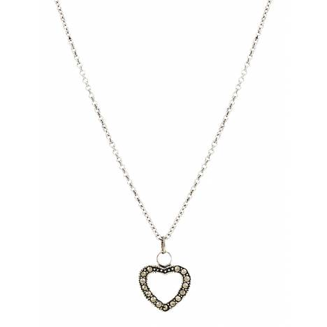 Montana Silversmiths Sparks Will Fly Night's Heart Necklace