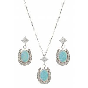 Montana Silversmiths River Lights Pond of Luck in the Evening Sky Jewelry Set
