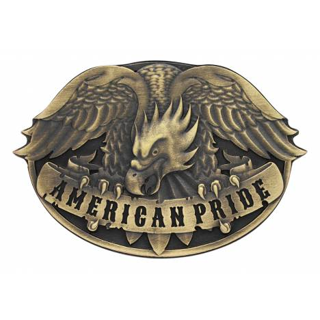 Montana Silversmiths Heritage Defending Eagle Attitude Buckle