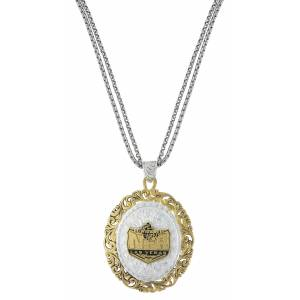 Montana Silversmiths Two-Tone NFR Amulet Necklace