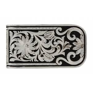 Montana Silversmiths LeatherCut Bitterroot Money Clip
