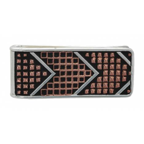 Montana Silversmiths CrossCut Mesh & Bead Money Clip