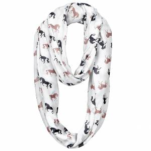 Ladies' Lila Silhoutte Horses Infinity Scarf