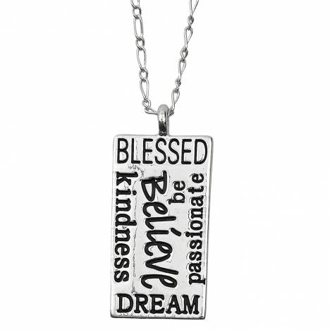 Ladies'' Lila 'Believe' Necklace