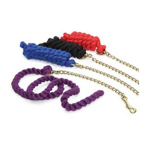 Shires Cotton Lead Rope With Chain