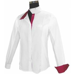 Equine Couture Ladies Raspberry Long Sleeve Show Shirt