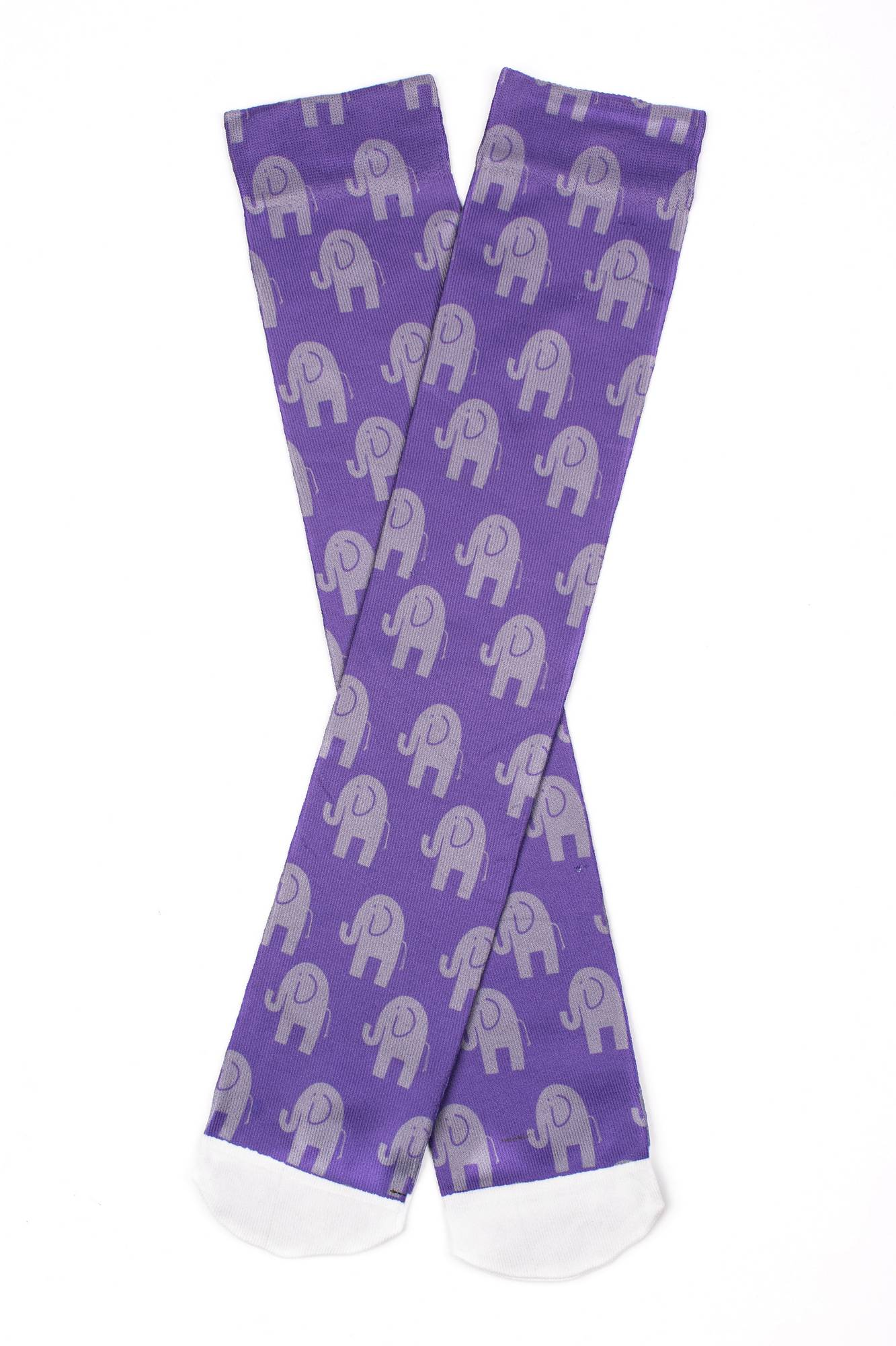 Lettia Elephant Print Boot Socks