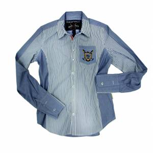 Horseware Polo Aurore Shirt - Ladies, Pinstripe
