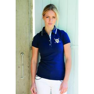 Luna Fitted Cotton Mesh Polo