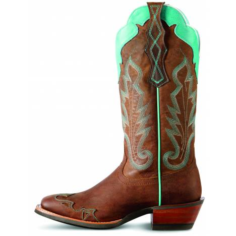 Ariat Caballera Western Boots - Ladies - Weathered Brown/Green