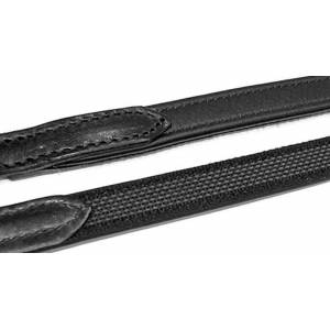 Stubben Wrapped Leather Rubber Back Reins