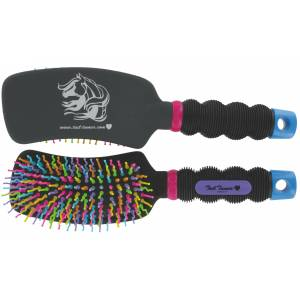 Tail Tamer Curved Handle Rainbow Brush