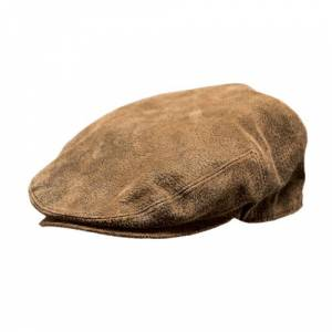 Outback Trading Leather Ascot Cap- Men's