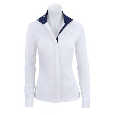 RJ Classics Ladies Prestige Show Shirt - White/Navy Cherries