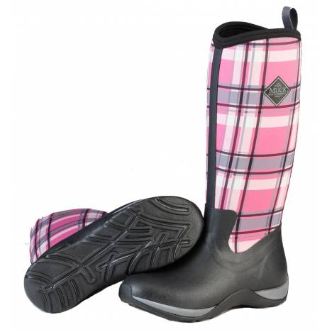 Muck Boots Arctic Adventure - Ladies - Black/Pink Plaid
