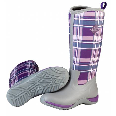 Muck Boots Arctic Adventure - Ladies - Gray/Acai Plaid