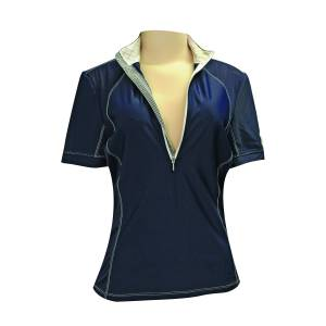 FITS  Sea Breeze Short Sleeve Tech Shirt - Ladies - Navy
