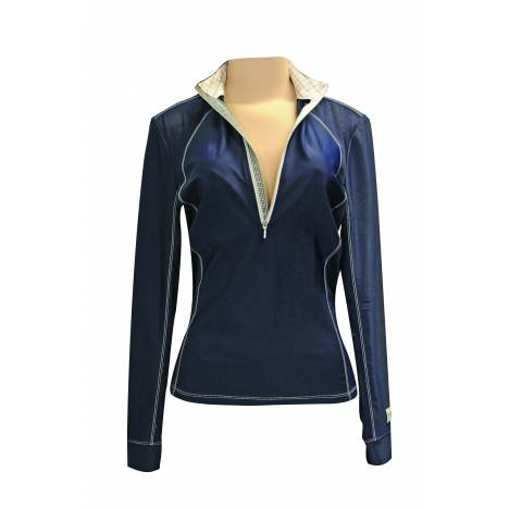 FITS Sea Breeze Long Sleeve Tech Shirt - Ladies - Navy