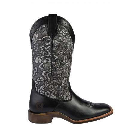 Noble Equestrian All Around Floral Square Toe Boot-Ladies