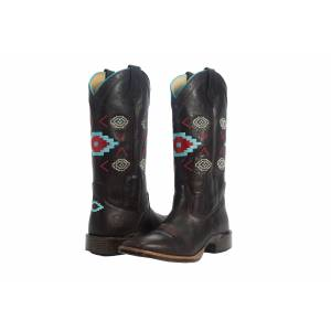 Noble Outfitters All Around Aztec Square Toe Boot-Ladies