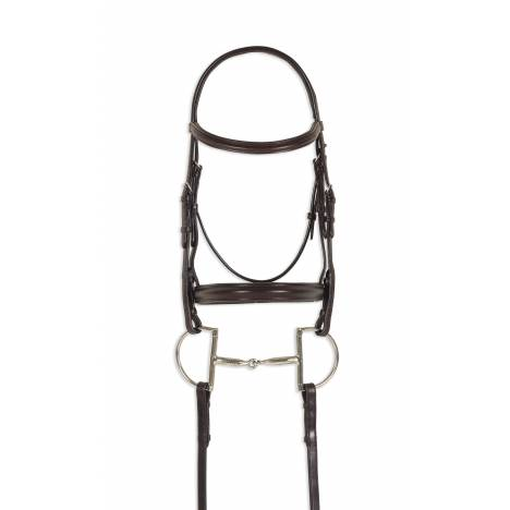 Ovation Breed Plain Raised Padded Bridle - Quarter Horse, Brown