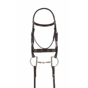 Ovation Breed Plain Raised Padded Bridle - Draft Cross, Brown