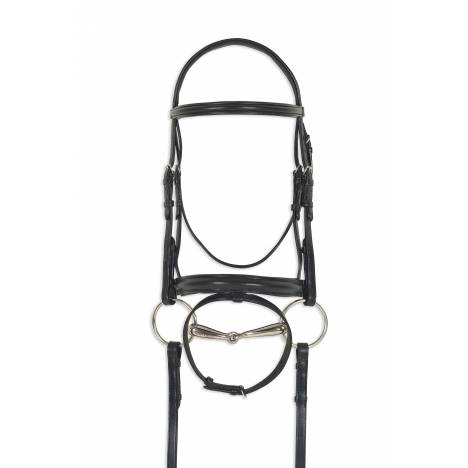 Ovation Breed Crank Dressage Bridle - Freisian
