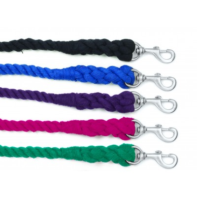 Equi-Essentials 3-Ply Cotton Lead with Chrome Plated Snap
