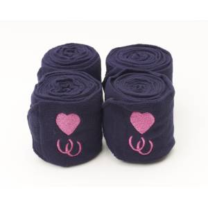 Centaur Embroidered Hearts & Horseshoes Polo Wraps