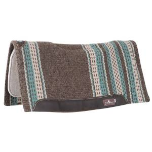 Classic Equine Zone Series Wool Blanket Top Western Pad - 32 x 34 x 3/4